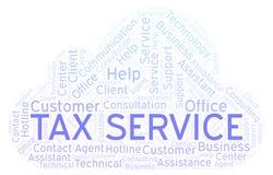 税服务词云彩 向量例证