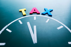 税概念的时刻 库存照片