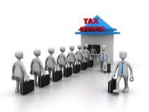 付税的队列 免版税图库摄影