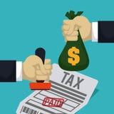 税设计,传染媒介例证 库存例证