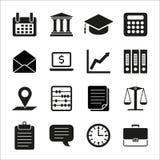 税,法律,财务概念平的象 免版税库存图片