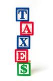 税alphapbet块 库存照片