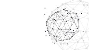 稳定的抽象几何多角形结构 库存例证