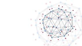 稳定的抽象几何多角形结构 皇族释放例证