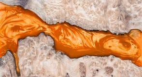 稳定Leza节木头的熔铸的环氧树脂 免版税库存照片
