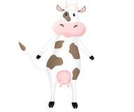 滑稽动画片的母牛 免版税库存照片