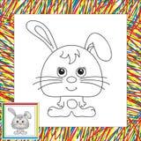滑稽和逗人喜爱的野兔(兔子) 免版税库存图片