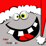 滑稽圣诞快乐的卡片 免版税库存图片