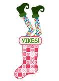 滑稽圣诞节的长袜 免版税库存照片