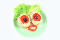 滑稽的三明治 库存图片