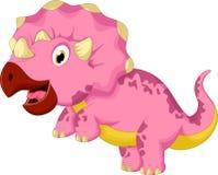 滑稽的三角恐龙动画片 库存图片