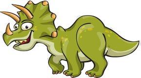 滑稽的三角恐龙 免版税库存图片