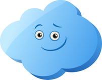 滑稽的云彩动画片例证 库存图片