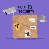 滑稽的传染媒介对象 配件箱 充分的安全 库存图片