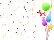 滑稽的党气球 免版税库存照片