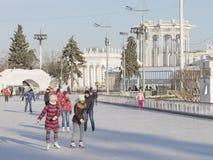 滑稽的冬天假期在莫斯科 库存照片
