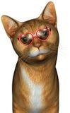 滑稽的凉快的猫例证 库存照片