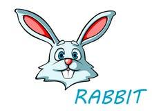 滑稽的动画片兔子或野兔 图库摄影