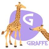 滑稽的动画片动物传染媒介字母表信件集合 免版税库存图片