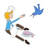 滑稽的动画片厨师 图库摄影