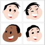 滑稽的动画片哄骗面孔 向量例证