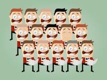 滑稽的动画片唱诗班 免版税库存图片
