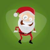滑稽的动画片圣诞老人 免版税库存图片