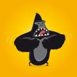 滑稽的动画片大猩猩 免版税库存照片
