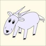 滑稽的动画片山羊 免版税库存图片