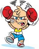 滑稽的动画片拳击手 免版税库存图片