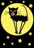 滑稽的动画片猫例证 库存照片