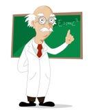 滑稽的动画片科学家 免版税库存图片