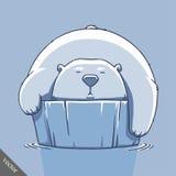 滑稽的动画片逗人喜爱的熊例证 免版税图库摄影