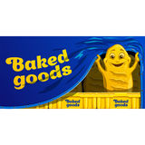 滑稽的动画片面包 传染媒介食物字符 库存照片