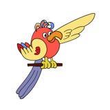 滑稽的动画片鹦鹉 库存图片