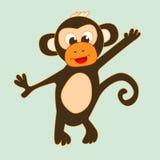 滑稽的动画片猴子 免版税图库摄影