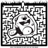 滑稽的单色迷宫 库存例证