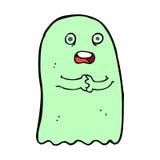 滑稽的可笑的动画片鬼魂 库存例证