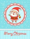 滑稽的圣诞老人。 免版税库存照片