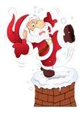 滑稽的圣诞老人-圣诞节传染媒介例证 库存图片