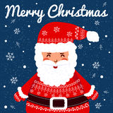 滑稽的圣诞老人 圣诞节贺卡背景 免版税库存照片