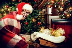 滑稽的圣诞老人 免版税库存图片