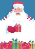 滑稽的圣诞老人 免版税库存照片