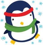 滑稽的圣诞节企鹅 库存例证