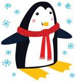 滑稽的圣诞节企鹅 向量例证