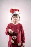 滑稽的圣诞节孩子 免版税库存图片