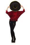滑稽的墨西哥妇女佩带的阔边帽 图库摄影