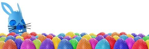 滑稽的复活节彩蛋横幅 库存照片