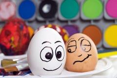 滑稽的复活节彩蛋 免版税库存照片
