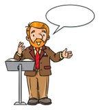 滑稽的大学讲师或老师 向量例证